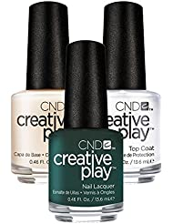 CND Creative Play Cut to the Chase Nr. 434 13,5 ml mit Creative Play Base Coat 13,5 ml und Top Coat 13,5 ml, 1er Pack (1 x 0.041 l)