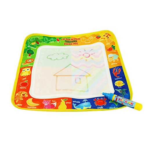 Transer® Toys for Kids Spielwaren für Kinder, 4Farben zum Wassermalen mit Doodle, Malmatte & Wasserstift-Babymalen, Geschenk, Spielzeug
