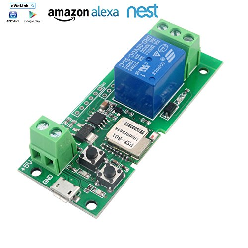 MHCOZY WiFi Wireless Inching Relais Haupt/Selbstsichernde Switch Modul DIY Smart Home Fernbedienung DC 5-32V Ewelink App Kompatibel mit Alexa Echo Google Startseite (5V)