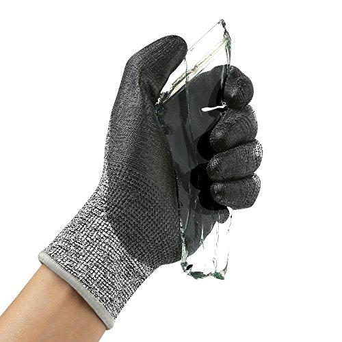 Guanti resistenti al taglio guanti da lavoro xl level 5 guanti protettivi a prova di taglio per donna e uomo en388 guanti di sicurezza per cucina, giardinaggio, carpenteria, costruzione, 1 paio