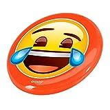 Emoji Laughing Face, Disco Volante Misto, Arancione (Orange)