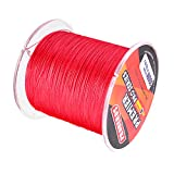 #2: Magideal Super Strong 300M 0.5mm 80LB PE Braided Lines Sea Fishing Line Red