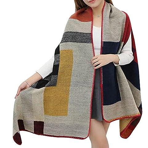 Eizur Fashion Tigre Cashmere Scarf Korea Geometric Wrap Scarves Pashmina