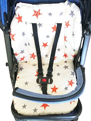 Estrella doble Amcho Cochecito de beb/é Coj/ín del asiento de coche Pel/ícula protectora Respirable Coj/ín de la silla alta impermeable Coj/ín de la silla alta Trona