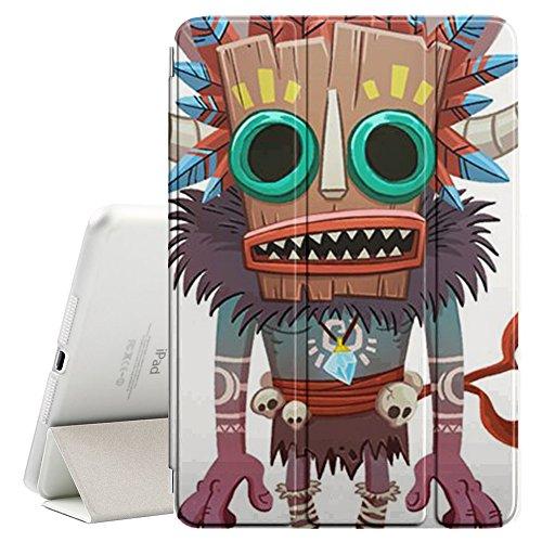 YOYOcovers [ FOR iPad Mini 2 / 3 / 4 ] Smart Cover con funzione del basamento di sonno - Monster Native Witch Voodoo Doll Skull