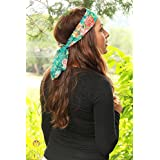 Dini Wigs Dressy Floral Print Hair Scarf Hair Band (Floral Scarf)