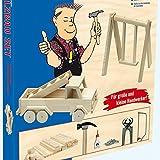 matches21 Kinder Holz Bausatz Auto / Fahrzeug inkl. Vollholz Material und Werkzeug Holzbausatz