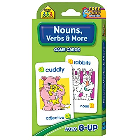 Nouns, Verbs And More: Game Cards