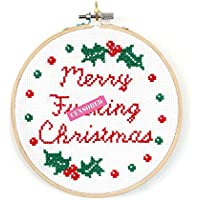 Cross Stitch Christmas Kit For Adults Beginners- Curious Twist ®