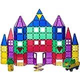 Conjunto de 100 + 18 piezas Playmags: ahora con imanes más fuertes, resistentes y duraderos, con baldosas de colores vivos y transparentes. Dieciocho piezas accesorias Clickins para aumentar la creatividad.
