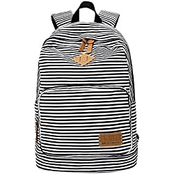 laamei Mochilas Escolares Juveniles Impresión Moderna Raya Mochila Escolar Infantiles Lona Bolsa Casual Backpack Laptop Mochila de Viaje para Chicas Chicos Niño Niña
