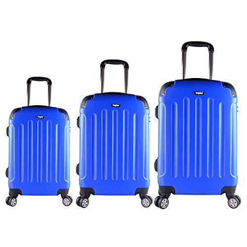 Sunydeal Hartschalenkoffer Set Kofferset Trolley Hartschale mit TSA Zahlenschloss 4 Rollen 55 cm/65 cm/75 cm 32 Liter/ 56 Liter/ 85 Liter Größe s/m/l Braun