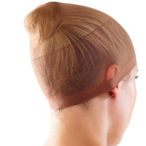 infactory Perückenhaube: Unterziehhauben für Perücken, 2 Stück (blond und braun) (Haube für (Kostüm Blonde Afro Halloween)
