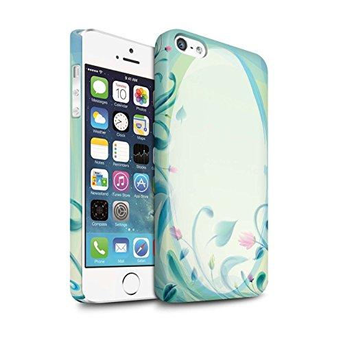 STUFF4 Matte Snap-On Hülle / Case für Apple iPhone 5/5S / Vogelkäfig Muster / Teal Mode Kollektion Blume Leinwand/Jahrgang