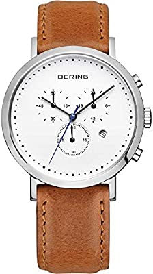 Bering Classic Collection 10540-504 Cronógrafo para hombres Plano & ligero
