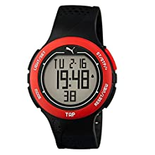 PUMA Touch Men's Quartz Watch with LCD Dial Digital Display and Black Plastic Strap PU911211001