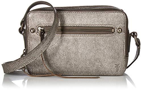 FRYE Umhängetasche aus Leder mit Reißverschluss, Silber (Silber), Einheitsgröße Slv Tasche