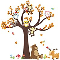 Fansi 1pc Animal de la Historieta de la Sala de los niños de Kindergarten disposición del Entorno extraíble Etiqueta de la Pared Impermeable Mural Decorativo Etiqueta de la Pared
