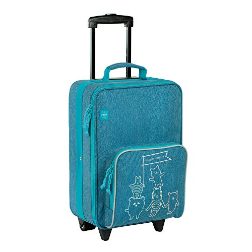 Lässig Trolley About Friends mélange Koffer, 46 cm, 25.3 L, Blue