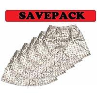(L) Savepack Boxers Boxer Shorts Boxershort *** 5 piezas *** Ropa interior chica chico mujer elefante hombres blancos