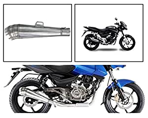 Vheelocityin 83891 Pipe Style Motorcycle Exhaust for Bajaj Pulsar 150