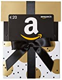 Amazon.de Geschenkgutschein in Geschenkschuber - 20 EUR (Gold mit Punkten)