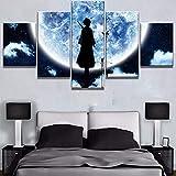 Malerei auf Leinwand 5 Panels Modern Abstract Anime Charakter Wandkunstwerk Paint Home Decorations Kein Rahmen,B,80x150cm