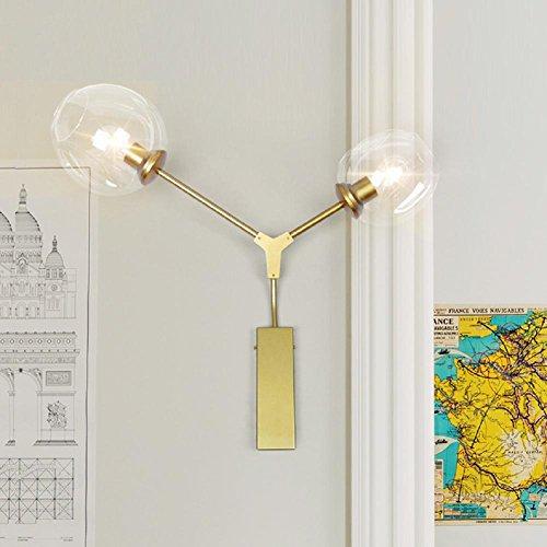Bambus-schlafzimmer Kopfteil (Wandleuchte Wandlampe Moderne kreative Schlafzimmer Kopfteil Wandleuchte , sand gold)