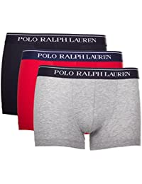 Polo Ralph Lauren 3 Packs Pouch Trunks, Short Homme, Noir, (lot de 3)