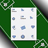 EigenArt Fußball für Fingernägel Nail Art Flagge-Decal Griechenland / Greece