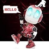 Peradix Robot Giocattolo per Bambini dai 3 ai 12 Anni, Robot parlante Divertente, Giocattolo educativo, Regalo di Compleanno per Bambini (Rosso)