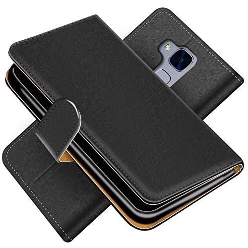 Conie Handytasche für Huawei GT3 Cover Schutzhülle im Bookstyle aufklappbare Hülle aus PU Leder Farbe: Schwarz