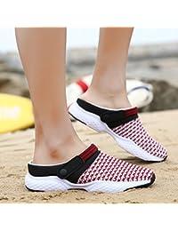 OME&QIUMEI Sandales Sandales Sandales Chaussures Femmes Sandales Chaussures De Plage Noir 38