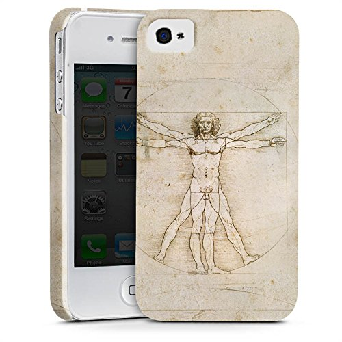 Apple iPhone X Silikon Hülle Case Schutzhülle Leonardo da Vinci The Proportions of Man Kunst Premium Case glänzend