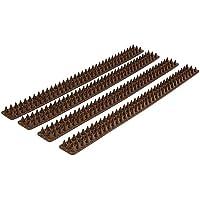 Relaxdays 10018124 - Paneles con pinchos contra aves, 49 x 4.2 x 1.7 cm, color marrón