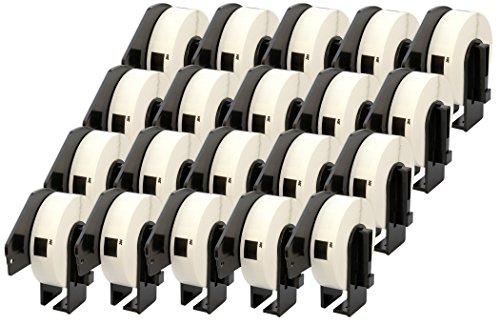 20x Brother DK-11204 17 x 54 mm Rollos de Etiquetas multipropósito (400...