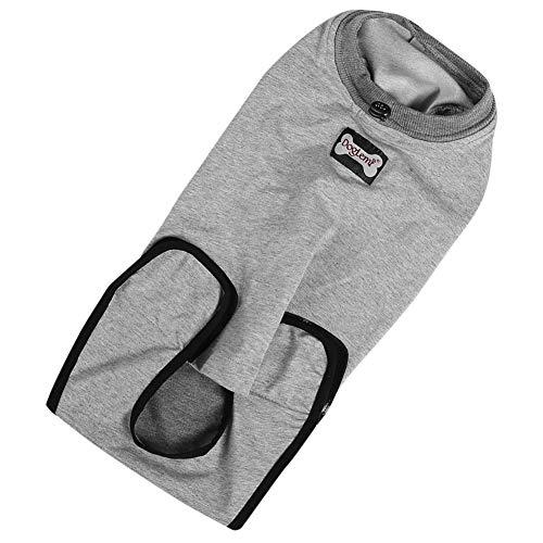 Jimfoty Haustier-Wiederherstellungsanzug, professioneller Wiederherstellungsanzug für Katzenhunde, geeignet für den Verbandschutz bei Wunderkrankungen(S)