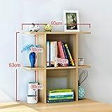 TIAMO Home Store Étagère de bureau simple Étagère créative sur la table Étagère Simple Bureau moderne Incorporé Petites bibliothèques ( taille : 60 cm )...