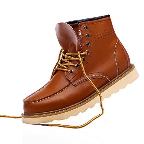Chaussures Pour Hommes De Plein Air Loisir Des Sports Bottes De Martin Cuir VéRitable Dentelle Bottes Militaires Black