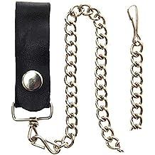 Cadena para billetera en acero con pasador de piel.