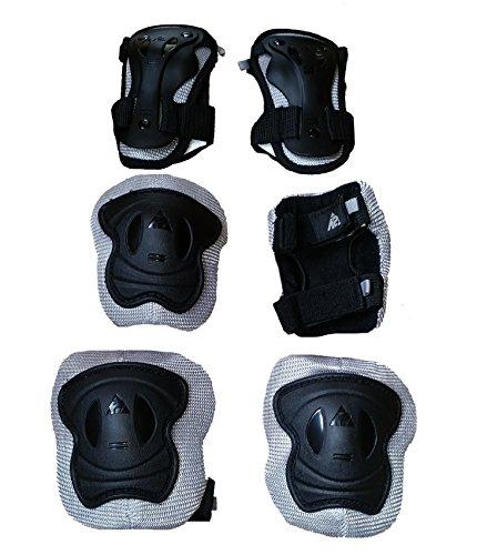 K2 Pad Set Kinder Schoner Knie- Handgelenk- Ellenbogen Schützer Schützerset Schonerset (XS)
