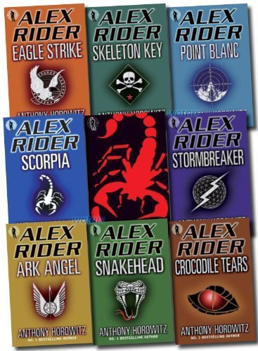 Alex Rider Collection 9 books Set By Anthony Horowitz. (Scorpia Rising Stormb...