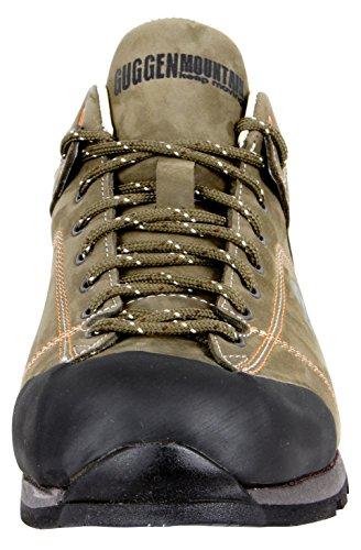 GUGGEN MOUNTAIN Chaussures hommes Bottes de randonn chaussures de marche chaussures plein air Vibram semelle HPT53 Marron