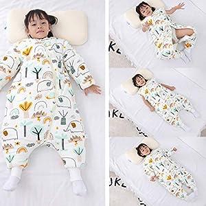 TYZY Saco de Dormir Cent bebé de la Pierna Anti-Retroceso con el pie Mangas Manta de bebé extraíble Otoño e Invierno los niños Mantienen Ropa de Abrigo para la Longitud 70-115cm
