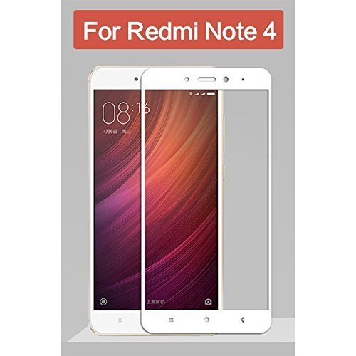Redmi Note 4 (Gold, 64 GB)/Redmi Note 4 (Black, 64 GB)/Redmi Note 4 (Gold, 32 GB)/Redmi Note 4 (Dark Grey, 64 GB)/Redmi Note 4 (Lake Blue, 64 GB)/Redmi Note 4 (Black, 32 GB)/Redmi Note 4 (Gold, 32 GB) Roxel Full Screen Tempered Glass Screen Protector With Roxel CBS Edge To Edge Full Coverage Frame Technology For Redmi Note 4 - Sapphire White