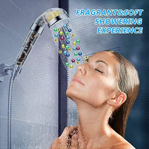 51KYwNvI4DL - DigHealth Cabezal Ducha Filtro con Vitamina C, Ducha de Iones Negativos de Mano Elimina Flúor y Cloramina, Ablanda el Agua Dura, Aumenta la Presión del Agua Mientras Ahorra Agua, Instalación Fácil
