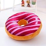 VERCART Coussin 3D Donut Oreiller Créatif pour Lit Canapé Fauteuil Jouet Peluche Décoratif Original 60x18cm