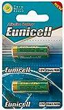 Eunicell 2 x 23A 12V (1 Blistercards a 2 Batterien) Quecksilberfreie Alkaline Batterien MN21, 23A, V23GA, L1028, A23 Markenware