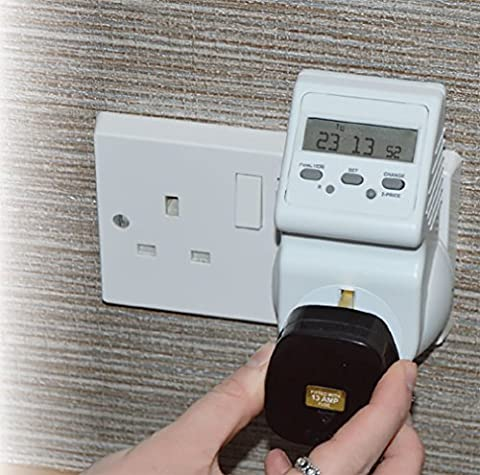 Energy Consumption Cost Meter - Monitor Electricity Use and Lower Your Bills! - Measures Watt KWH Amp Cost Voltage Frequency - With Child Safety Socket