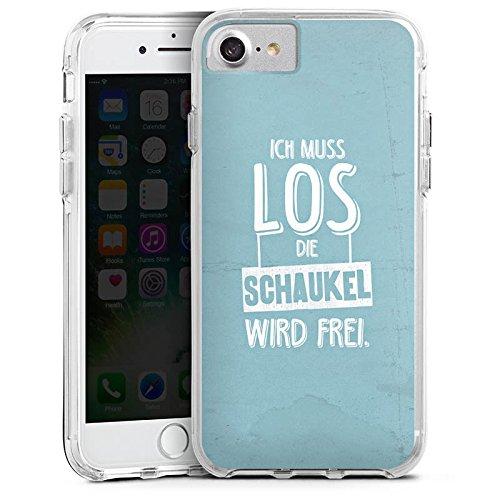 Apple iPhone 6 Plus Bumper Hülle Bumper Case Glitzer Hülle Spruch Humor Visual Statements Bumper Case transparent